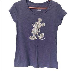 Disney Parks Purple Sequins Mickey Tee Shirt, S